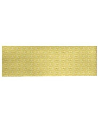 Deals For East Urban Home Hand Drawn Triangles Ivory Yellow Area Rug Chenille In Yellow Gold Size Rectangle 5 X 7 Wayfair