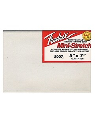 "Fredrix Red Label Stretched Cotton Canvas, 5"" x 7"", 4/Pack (14258-PK4),Size: med"