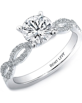 Women's Bony Levy Twist Pave Round Engagement Ring Setting (Nordstrom Exclusive)