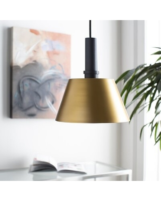 2020 Sales On Mcmorris 1 Light Single Cone Pendant George Oliver Finish Charcoal Bronze Shade Color Gold