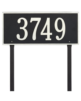 Personalized Whitehall Products Hartford Estate Lawn Address Plaque in Bronze