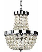 "Moscato 17 1/2"" Wide Champagne Pearl 3-Light Chandelier"