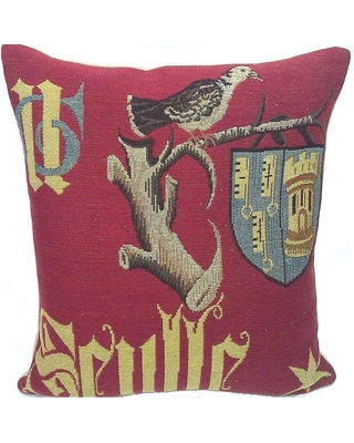 Corona Decor French Woven Traditional Poly Filled Decorative Pillow (Polyester - Accent - Single)