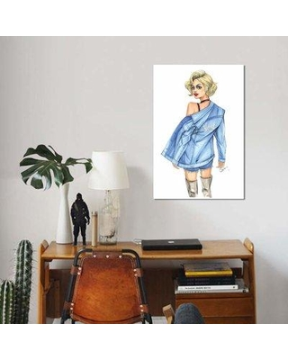 """East Urban Home 'Slay Day' Graphic Art Print on Canvas EBHS4687 Size: 40"""" H x 26"""" W x 0.75"""" D"""