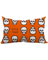 SafiyaJamila Holiday Treasures Mr. Bone Head Textual Indoor/Outdoor Lumbar Pillow MrBoneHead_Lumbar