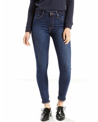 Women's Levi's 721 Modern Fit High Rise Skinny Jeans, Size: 25(US 0)Small, Dark Blue