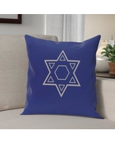 The Holiday Aisle Star of David Throw Pillow HLDY4441 Size: 26'' H x 26'' W, Color: Blue / Grey