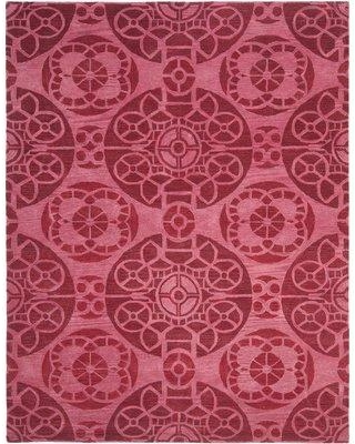 Bungalow Rose Kouerga Wool Hand-Tufted Red Area Rug BNGL8704 Rug Size: Rectangle 8' x 10'