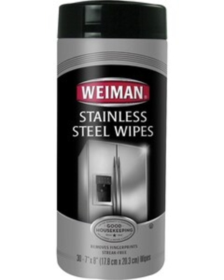 Weiman Stainless Steel Cleaner Wipes, Fresh, 30/Pack (92)   Quill