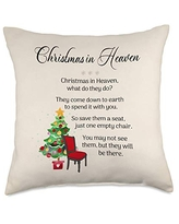 Wild Honey Collections Christmas in Heaven Poem Throw Pillow, 18x18, Multicolor