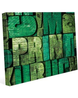 "Click Wall Art Box Words 'Print' Graphic Art Print on Wrapped Canvas COM0000092CAN08X10SXX Size: 16"" H x 20"" W x 0.75"" D"
