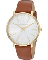 Michael Kors Women's Quartz Stainless Steel and Leather Casual Watch, Color:Brown (Model: MK2740)