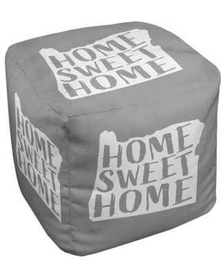 East Urban Home Home Sweet Oregon Cube Ottoman EBJC3145 Upholstery Color: Gray