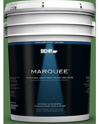BEHR MARQUEE 5 gal. #450D-7 Torrey Pine Satin Enamel Exterior Paint and Primer in One