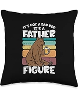 Best Dad Pillows Husband Birthday Fathers Day Gift Not Dad BOD Figure Bear Funny Fathers Day Drinking Throw Pillow, 16x16, Multicolor