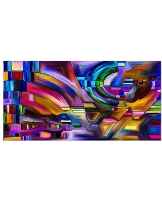 """East Urban Home Contemporary 'Virtual Color Division' Graphic Art Print on Wrapped Canvas ETUC0166 Size: 16"""" H x 32"""" W x 1"""" D"""
