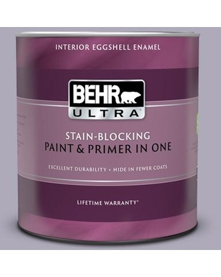 BEHR ULTRA 1 qt. #ICC-98 Lilac Bloom Eggshell Enamel Interior Paint and Primer in One