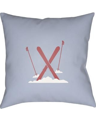 """The Holiday Aisle Square Indoor/Outdoor Throw Pillow THDA8965 Size: 20"""" H x 20"""" W x 4"""" D, Color: Blue / Red / White"""