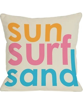 One Bella Casa Sun Surf Sand Throw Pillow 70832PL18Z