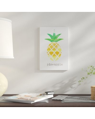 "'Pineapple' Graphic Art Print on Canvas East Urban Home Size: 26"" H x 18"" W x 0.75"" D"