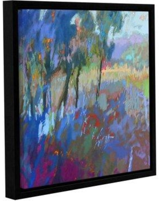 """Red Barrel Studio 'Color Field 44' Framed Painting Print on Canvas RDBL4376 Size: 14"""" H x 14"""" W"""