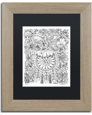 "Trademark Fine Art 'Fairy' Framed Graphic Art on Canvas ALI3672-T1 Matte Color: Black Size: 20"" H x 16"" W x 0.5"" D"