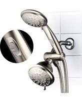 Ultra Luxury Combo Shower System Brushed Nickel - Hotelspa