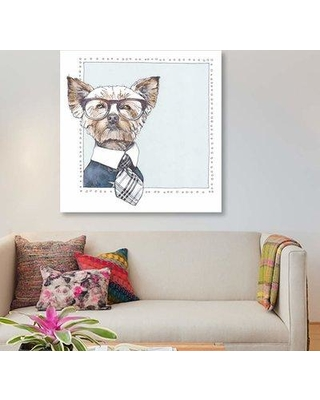 """East Urban Home 'Tweedy' Graphic Art Print on Canvas EBHS5150 Size: 37"""" H x 37"""" W x 1.5"""" D"""