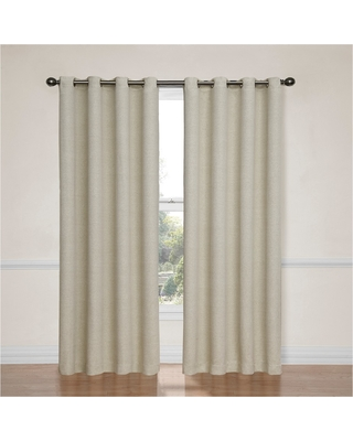 """Bobbi Thermaweave Blackout Curtain Ivory (52""""x63"""") - Eclipse"""