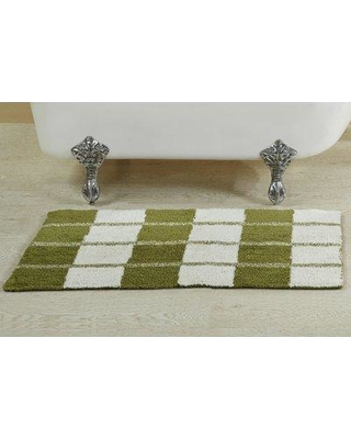 "August Grove Alcera Bath Rug AGGR5137 Size: 24"" W x 40"" L Color: Green"
