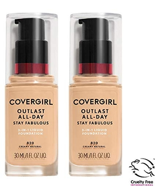 COVERGIRL COVERGIRL outlast all-day stay fabulous 3-in-1 foundation, soft sable, pack of 2, 1 Ounce