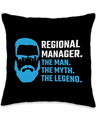 PNMerch Boss Regional Manager Gift The Man The Myth The Legend Supervisor Throw Pillow, 16x16, Multicolor