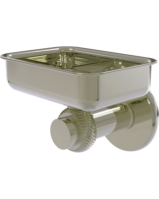 Allied Brass Mercury Collection Wall Mounted Soap Dish with Twisted Accents in Polished Nickel