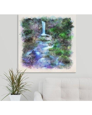 """Winston Porter 'Watercolor Inspirational Poster: Direction' Textual Art Print on Canvas W001608392 Format: Wrapped Canvas Size: 30"""" H x 30"""" W x 1.25"""" D"""