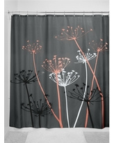 Shower Curtain Interdesign Floral Gray Coral, Gray/Pink