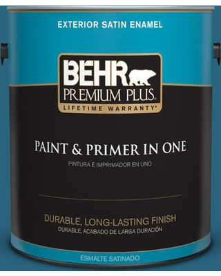 BEHR PREMIUM PLUS 1 gal. #550D-7 Southern Evening Satin Enamel Exterior Paint and Primer in One