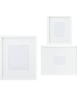 Wood Gallery Single Opening Frame, Set of 3 (includes 4x6, 5x7, 8x10) - Modern White