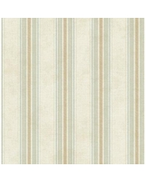 """Charlton Home Estela Classic Stripe 33' L x 20.5"""" W Wallpaper Roll X111677354 Color: Champagne Shimmer/Baby Pink"""
