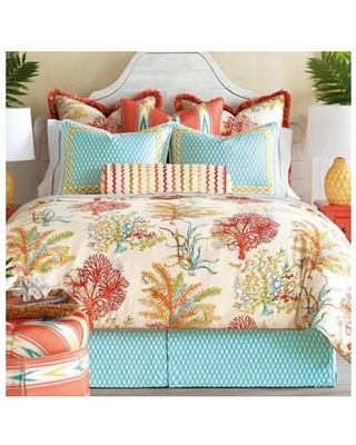 Eastern Accents Maldive Single Reversible Comforter EAN6492 Size: California King Finish Type: Hand-Tacked