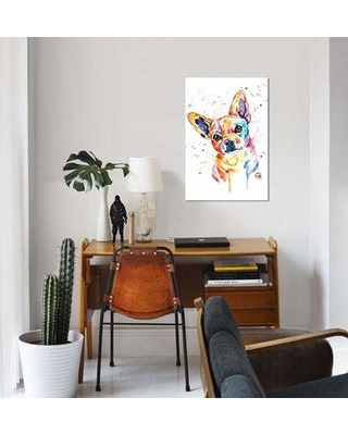 """East Urban Home 'Tucker' By Lisa Whitehouse Graphic Art Print on Canvas EUME1986 Size: 40"""" H x 26"""" W x 1.5"""" D"""