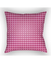 "Harriet Bee Colinda Square Throw Pillow HBEE1283 Color: Pink, Size: 22"" H x 22"" W x 5"" D"
