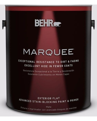 BEHR MARQUEE 1 gal. #PR-W02 Early Crocus Flat Exterior Paint and Primer in One