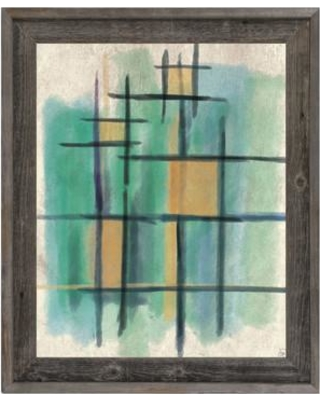 """Click Wall Art In This Room Framed Painting Print on Canvas CBS0002152FRA Size: 27.5"""" H x 23.5"""" W x 1"""" D"""