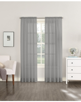 """No. 918 Sheer Voile 59"""" x 63"""" Rod Pocket Top Curtain Panel"""