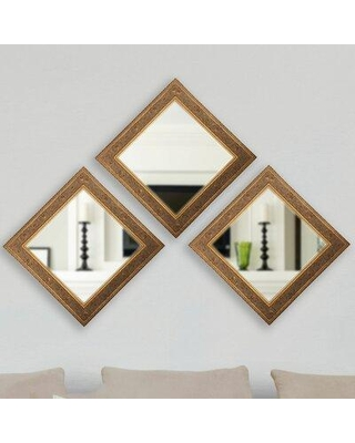 Savings On Astoria Grand Square Wall Mirror Wood In Gold Size 1 5 L X 23 5 W X 23 5 H Wayfair Astg2895 30303179