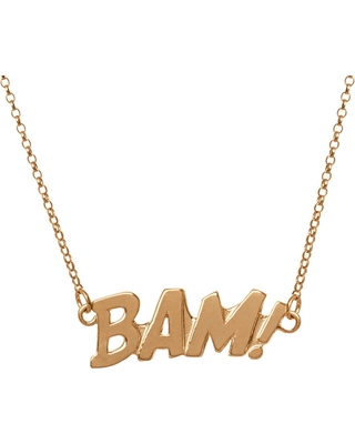 Edge Only - Bam Letters Necklace In Gold