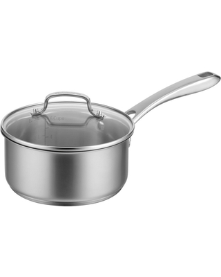 Cuisinart 2.5qt Stainless Steel Saucepan with Cover, Silver