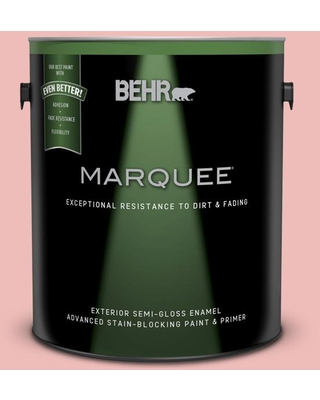 BEHR MARQUEE 1 gal. #CE-01 Alpenglow Semi-Gloss Enamel Exterior Paint and Primer in One