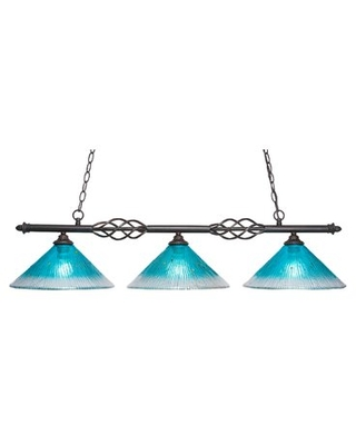 New Deal On Pierro 3 Light Kitchen Island Linear Pendant Astoria Grand Shade Color Teal