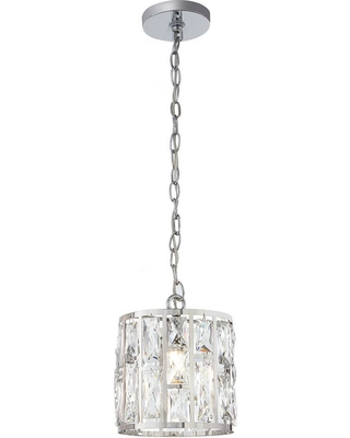 Home Decorators Collection Kristella 1 Light Crystal And Chrome Pendant From Depot Bhg